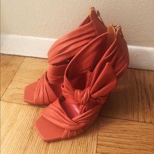 Jimmy Choo Kyle 100 Leather Wedge Sandal